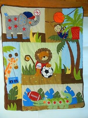 Lambs & Ivy Baby Nursery Team Safari Comforter Wall Hanging Crib Quilt Blanket