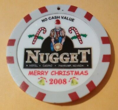2008 Nugget Casino Pahrump, Nevada Hard To Find No Cash Value Christmas Chip!