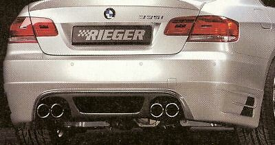 BMW Genuine Rieger E92 E93 335i Coupe Convertible 2007-10 Carbon Look Rear Apron