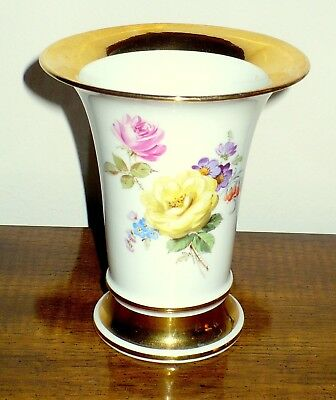 Antique [19th Century] Meissen Porcelain Trumpet Vase--Classic Beauty