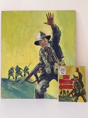 Original 1973 Art Artwork of BATTLE / WAR PICTURE LIBRARY Comic Cover & Book