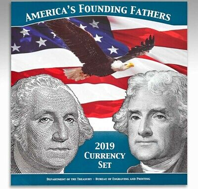 $2 & $1 America's Founding Fathers 2019 Currency Set. Population of 5,000