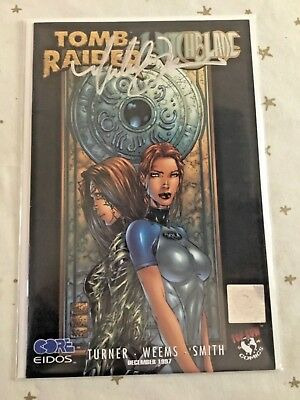 Wichblade/tomb Raider #1. Signed By Michael Turner. Wizard Coa.