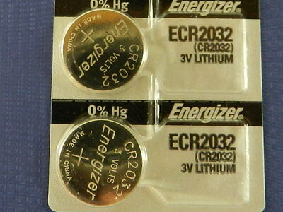 Energizer  ECR2032/ CR2032 Lithium 3V  Watch Batteries Cell,  2Pc