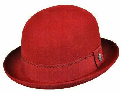 41a26643da31e Christys Sale   Mens Red Wool Derby Hat   L   New Top Quality Satin Lined
