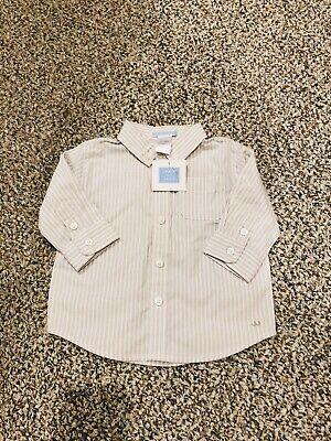 Janie and Jack NWT Infant Baby Boy Button Down Oxford Dress Shirt 3-6 Months