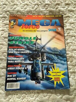 Revista MegaForce 18 SEGA Saturn