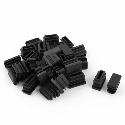 Chair Rectangle Design Tube Insert End Blanking Cover Cap Bumper 10 x 20mm 30pcs