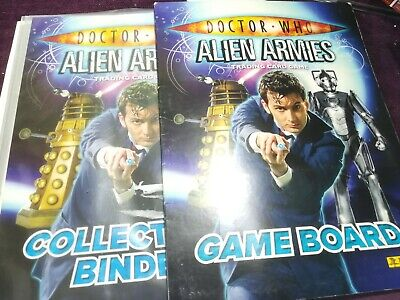 DOCTOR WHO - Alien Armies - Panini Collector's Binder  & Game Bord All most full