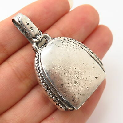 925 Sterling Silver Antique Webster Co. Rattle Bell Design Pendant