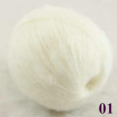 Sale New 1ballX50gr Fluffy Soft Mohair Lace Crochet Shawl Hand Knitting Yarn 01