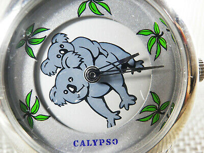 Divertido Calypso De Lotus  Esfera Giratoria Con 2 Ositos Fin Stok  Lote Watches