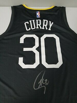 5026d128b47 STEPHEN CURRY SIGNED AUTOGRAPHED GOLDEN STATE WARRIORS JERSEY BAS COA  Steiner