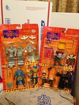 Disneys The Hunchback Of Notre Dame Figures Mattel MOC Quasimodo,Frollo,Gargoyle