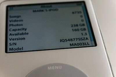 Apple iPod classic 5th Generation White Upgraded to 256 GB !!!!!