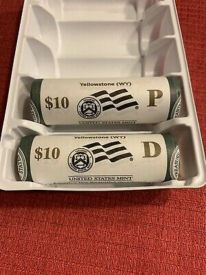 2010 P&D Yellowstone America The Beautiful Quarter Rolls *Free Shipping*