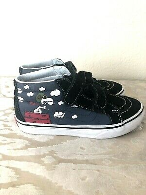 234edf652ce52e NIB VANS AUTHENTIC (Peanuts) Snoopy Skating Blue Youth Kids Shoes ...