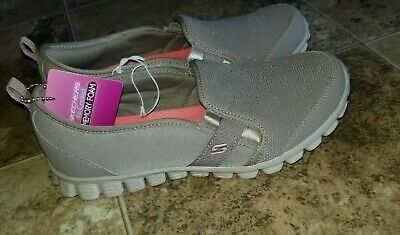 3002d037f34c New Womens Skechers Aircooled Slip On Good Cheer Taupe Active Shoes EZ Flex  2