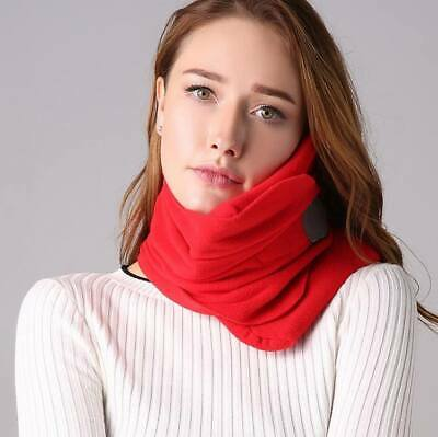 Comfort Scarf Travel Pillow Neck Cushion Portable Airplane Head Rest Nap Sleep