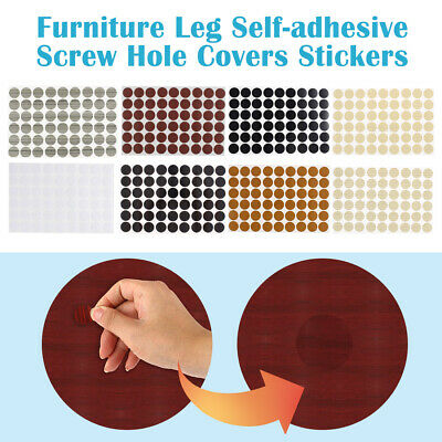 Home Office Furniture Self-adhesive Screw Hole Covers Caps Stickers 54 in 1