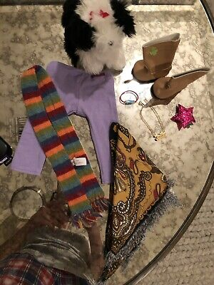 American Girl Lot - Clothes And Dog