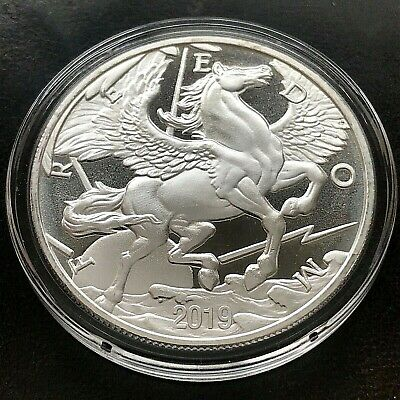 2019 Pegasus Silver Round 1 oz .999 Fine Silver Freedom Modern Ancients Airtite