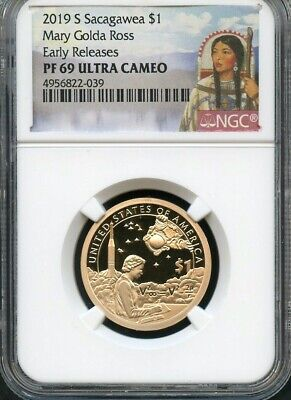 2019 S Sacagawea $1 Mary Golda Ross Early Releases NGC PF69 Ultra Cameo Portrait