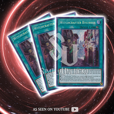 WITCHCRAFTER BYSTREET x3 | Secret Rare | INCH-EN024 The Infinity Chasers YuGiOh