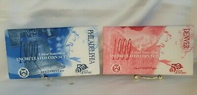 1999 Brilliant Uncirculated Us P&d Mint Set In Original Mint Cellophane