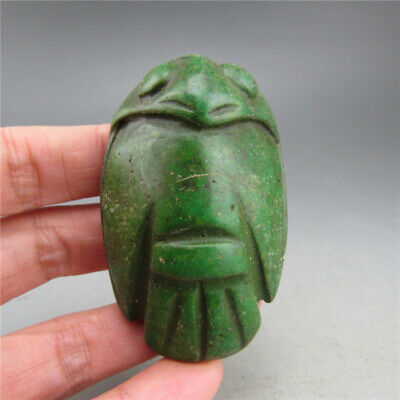 China, jade, hand carved, turquoise, eagle, pendant A25