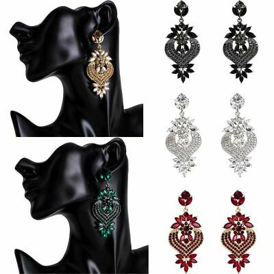 Fashion Vintage Wedding Crystal Rhinestone Dangle Drop Stud Chandelier Earrings