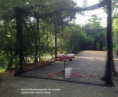 Softball and Baseball Batting Cage Frame Custom Made Heavy Duty, 50ftx13ftx12ft