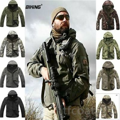 ESDY Shark Skin Soft Shell Men's Hoodie Outdoors Military Tactical Coat Jacket