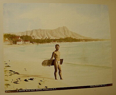 Hawaii Rarest 1898 Frank Davey Personal Photo Album ,1898 ,42 Hand Tinted Photos