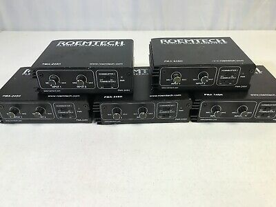 Lot Of 5 ROEMTECH PLENUM MIXER AMPLIFIER PMA-245H PREOWNED UNTESTED