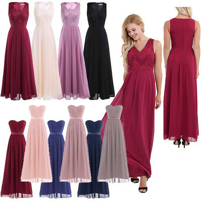 Women Formal Wedding Bridesmaid Chiffon Dress Evening Party Prom Gown Cocktail