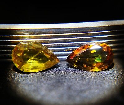 RARE!!!VERY NICE 2.74 CTS SHINING COLOR SHIFT SPHENE NATURAL GEMSTONE(Spn-2)