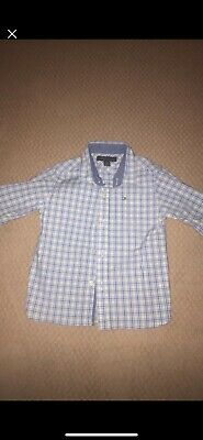 Tommy Hilfiger Long Sleeve Shirt Button Down Toddler Boys Plaid Size 2T