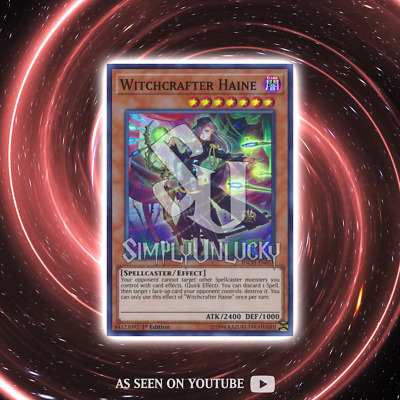 WITCHCRAFTER HAINE | Super Rare | INCH-EN018 The Infinity Chasers YuGiOh