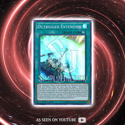 OUTRIGGER EXTENSION | Super Rare | INCH-EN012 The Infinity Chasers YuGiOh
