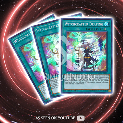 WITCHCRAFTER DRAPING x3 | Super Rare | INCH-EN023 The Infinity Chasers YuGiOh
