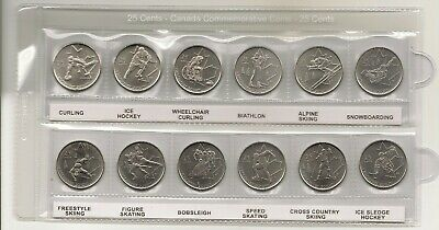 Complete Set Of 2010 Canada Winter Olympic 12 Quarters No Reserve #999