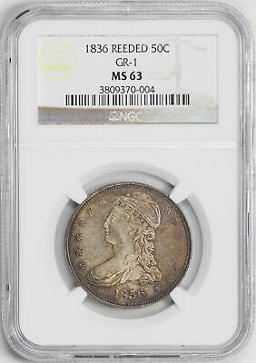 1836 Capped Bust 50C Ngc Ms 63