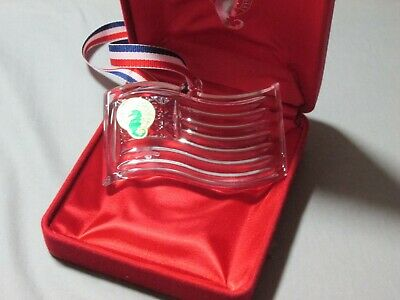 Waterford crystal flag ornament USA