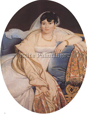 Jean Auguste Dominique Ingres Madame Riviere Artist Painting Handmade Oil Canvas