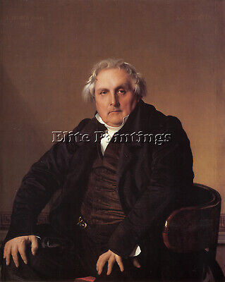 Jean-Auguste Dominique Ingres Louis Francois Bertin Artist Painting Reproduction