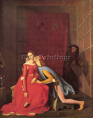 Jean Auguste Dominique Ingres Paolo And Francesca 1819 Artist Painting Handmade