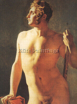 Jean Auguste Dominique Ingres Male Torso Artist Painting Reproduction Handmade