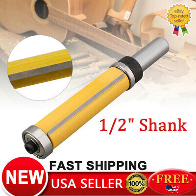 "2-1/2"" Flush Trim Top and Bottom Bearing Router Bit - 1/2"" Shank US"