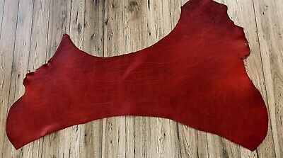 Red Hide Chrome Leather Shoulders